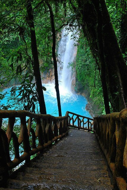 Picture-Pajavascript:;th Steps and Waterfall-Rio Celeste Waterfall Costa Rica_GoogleImages
